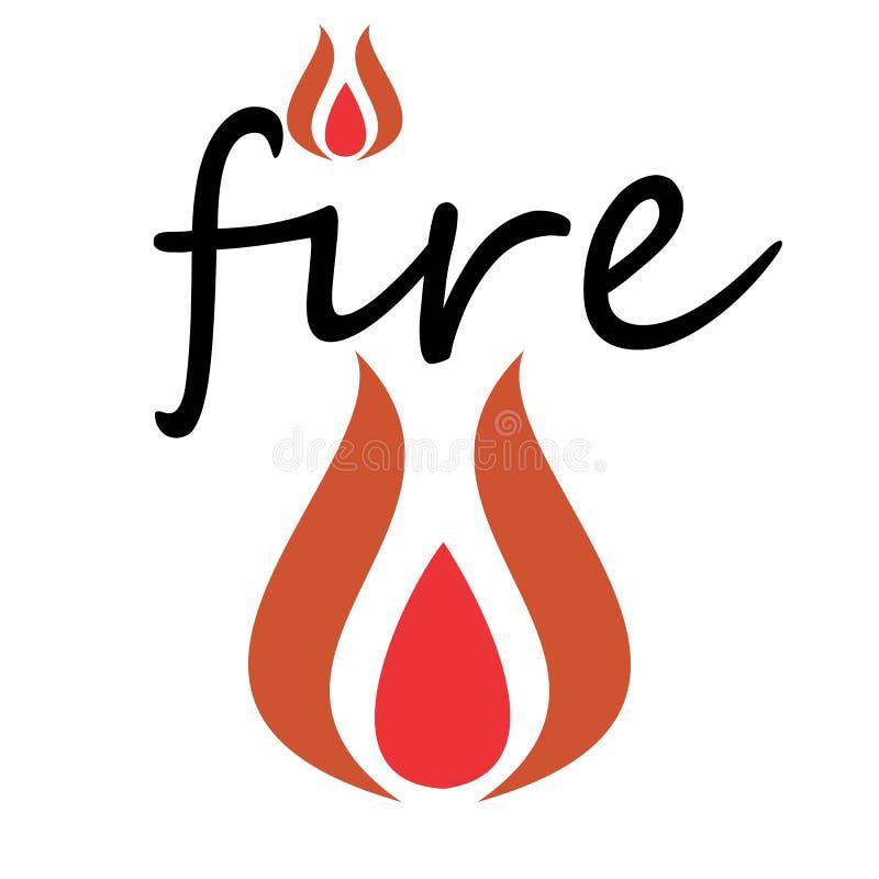 Logo creativo del fuoco dell'icona di concetto illustrazione vettoriale