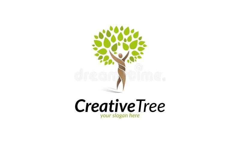 Logo creativo dell'albero illustrazione di stock