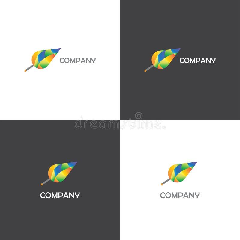Logo creativo della società di eco o dell'agenzia royalty illustrazione gratis