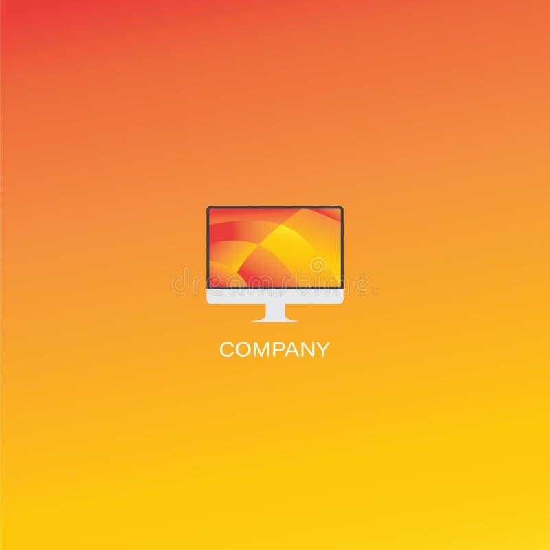 Logo creativo della società di progettazione o dell'agenzia illustrazione di stock