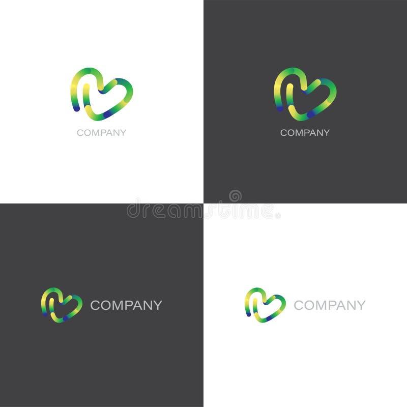 Logo creativo della società di progettazione o dell'agenzia illustrazione vettoriale