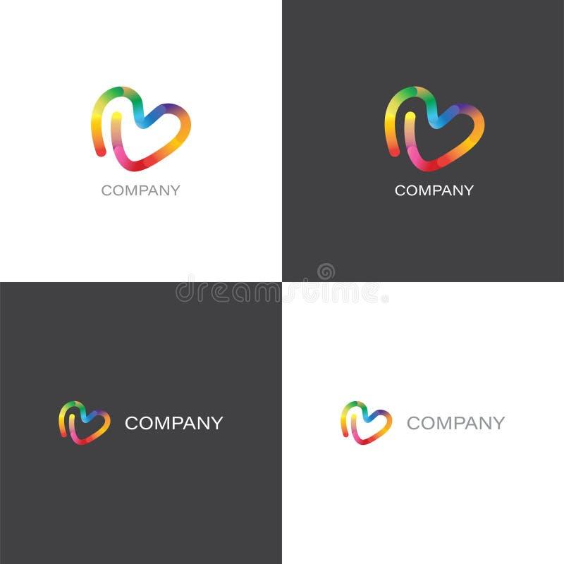 Logo creativo della società di progettazione o dell'agenzia royalty illustrazione gratis