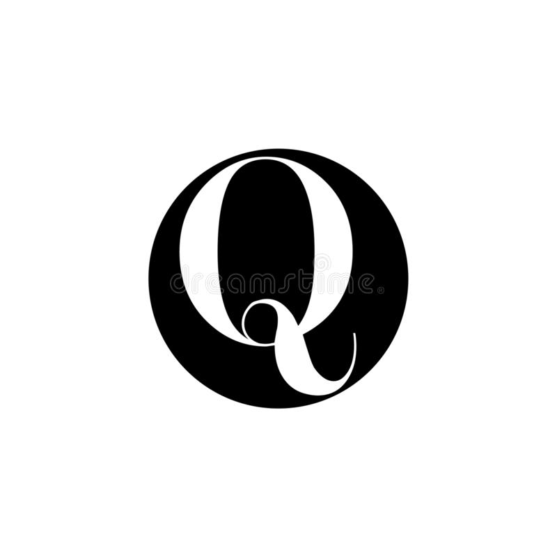 Logo creativo delle lettere uniche per la societ? illustrazione di stock