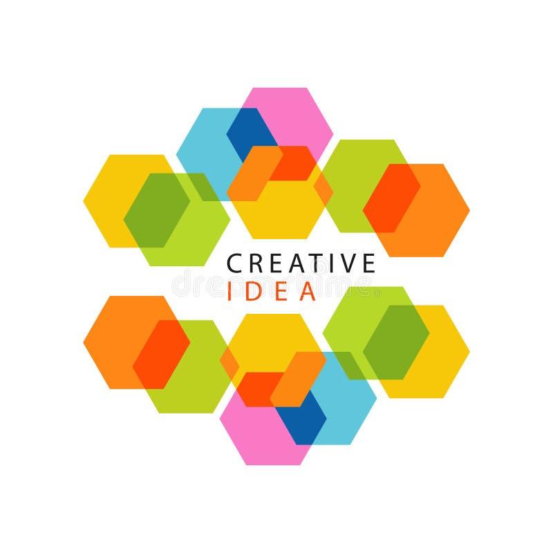 Logo creativo educativo di idea del hub di affari o del centro illustrazione vettoriale