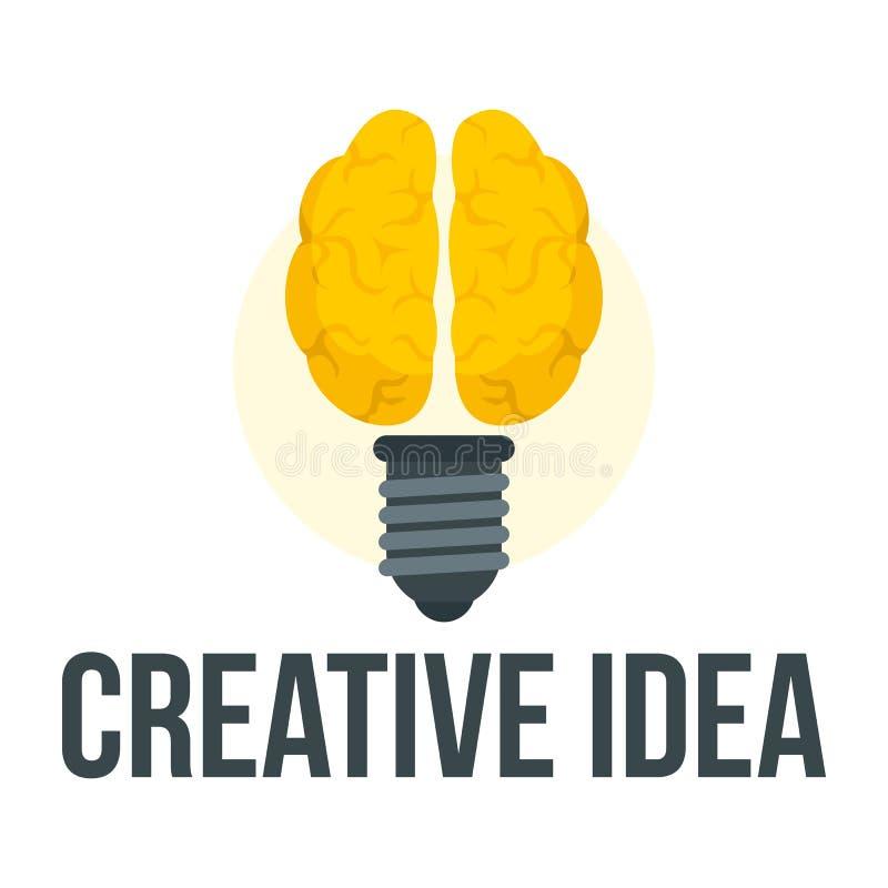 Logo creativo mentale di idea, stile piano royalty illustrazione gratis