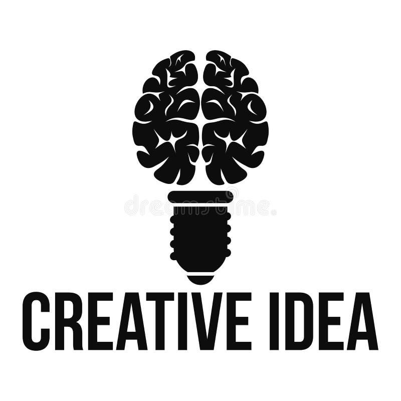 Logo creativo mentale di idea, stile semplice illustrazione vettoriale