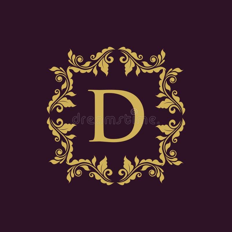 Logo décoratif de luxe illustration libre de droits