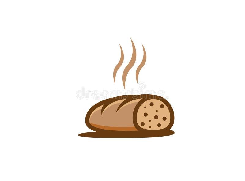 Logo découpé en tranches chaud créatif de pain illustration de vecteur