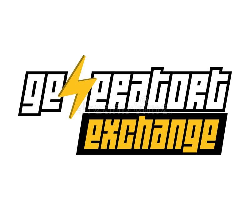 Logo d'échange de générateur illustration de vecteur