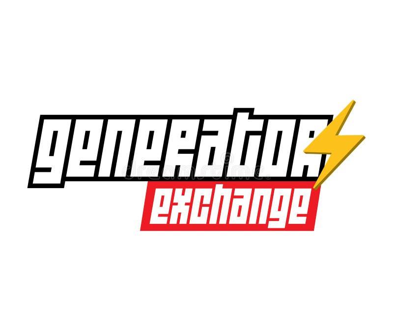Logo d'échange de générateur illustration libre de droits