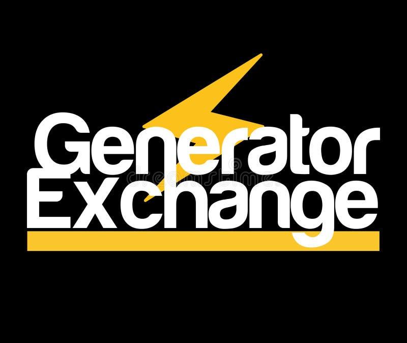 Logo d'échange de générateur illustration stock