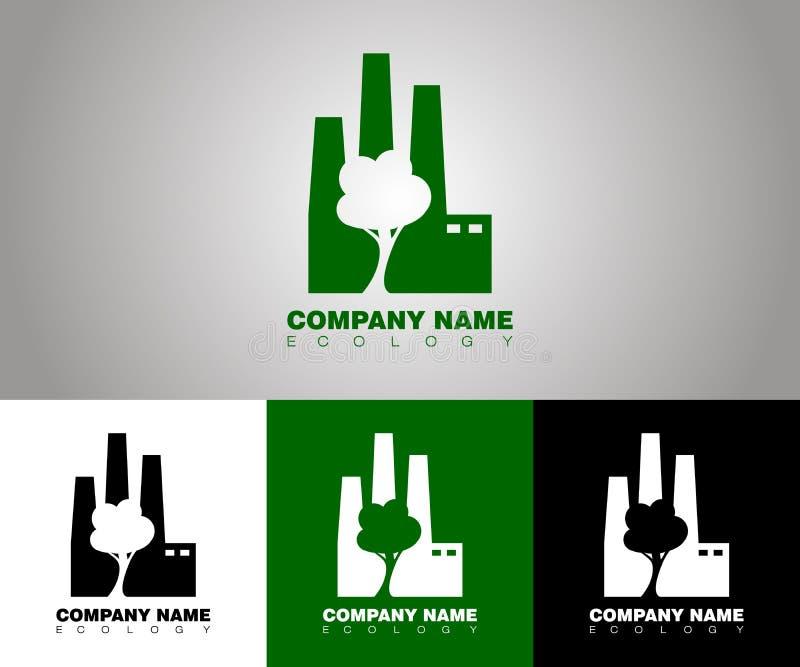 Logo d'écologie de vecteur avec différentes options de fond illustration libre de droits