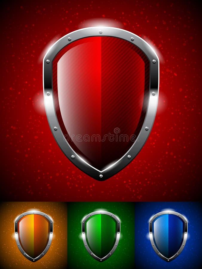 Logo d'écran protecteur illustration stock