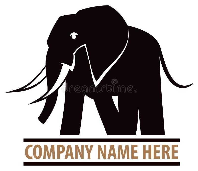 Logo d'éléphant illustration libre de droits