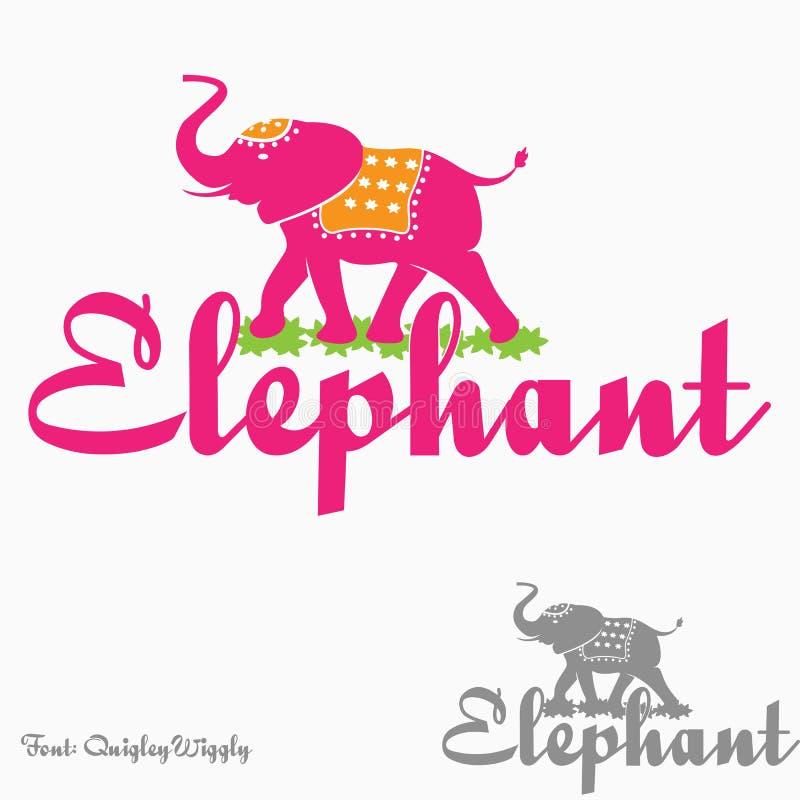 Logo d'éléphant illustration stock
