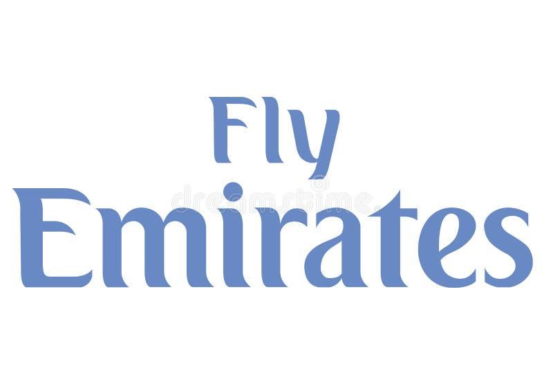 Logo d'émirats de mouche illustration de vecteur