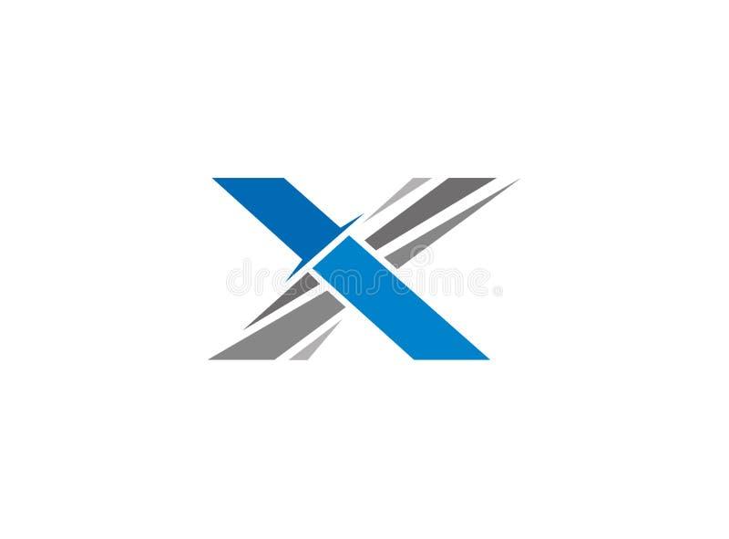 Logo d'épée de couteau de l'alphabet X illustration de vecteur
