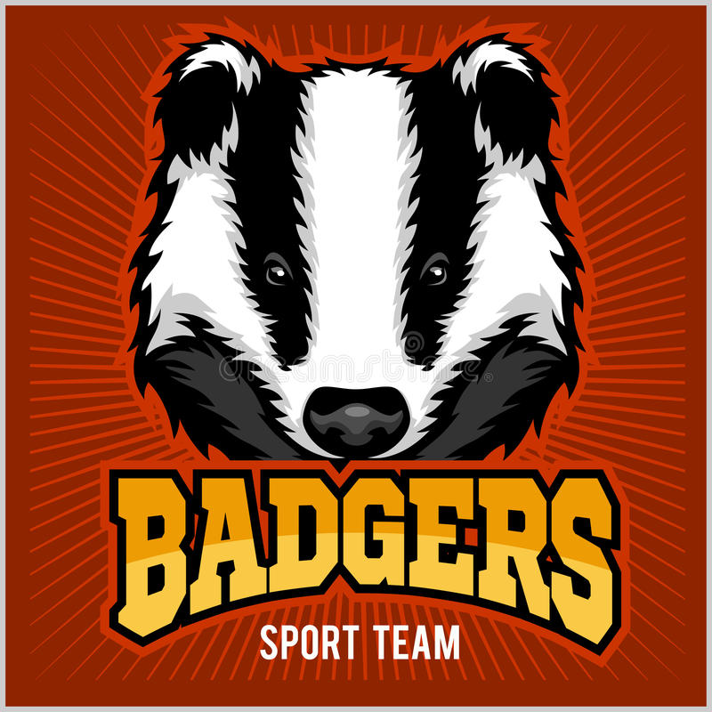 Logo d'équipe de sport de blaireau illustration libre de droits