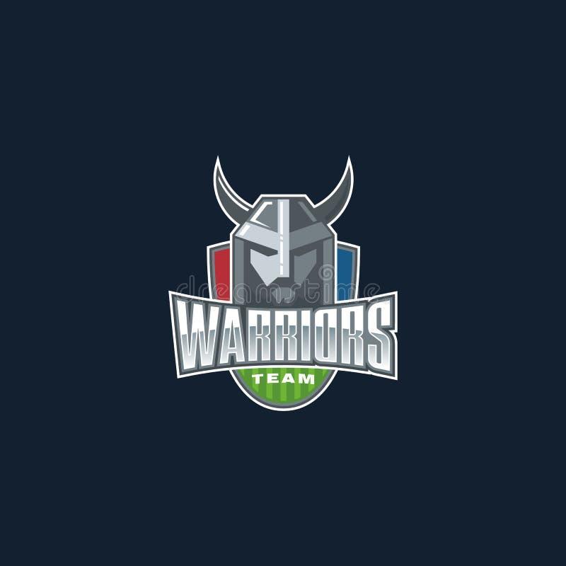 Logo d'équipe de sport de guerriers Insigne de club de sport de combattant illustration libre de droits