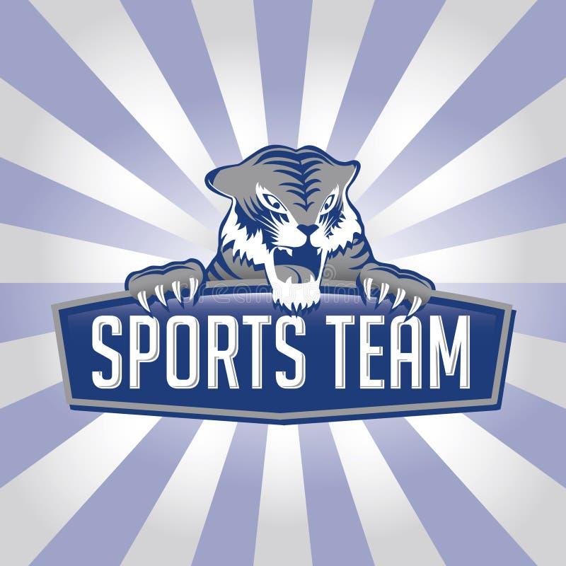 Logo d'équipe de sports de tigre illustration de vecteur