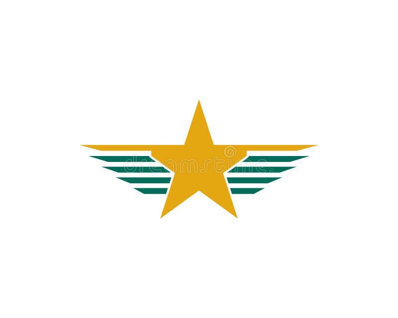 logo d'étoile d'aile illustration libre de droits
