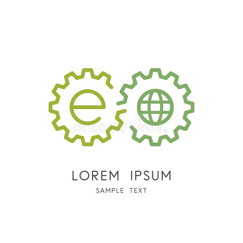 Logo d'évolution, d'écosystème et d'écologie illustration stock