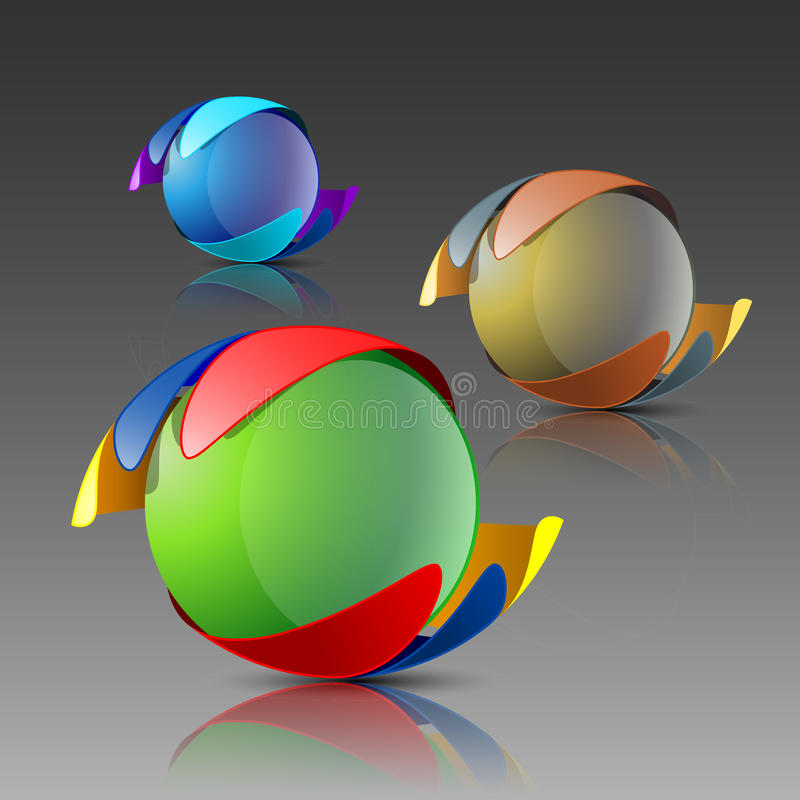 logo 3d illustration libre de droits