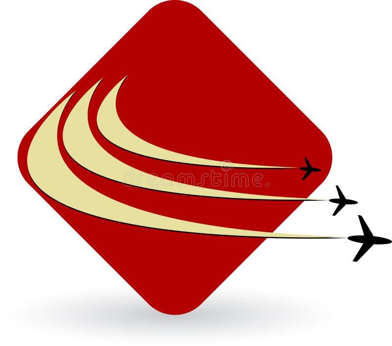 Logo d'aéronefs illustration de vecteur