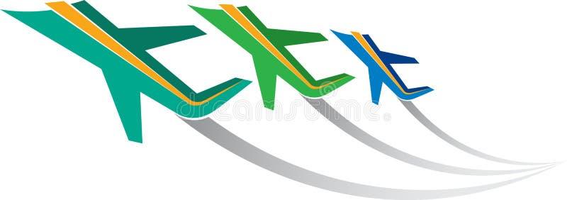 Logo d'aéronefs illustration stock