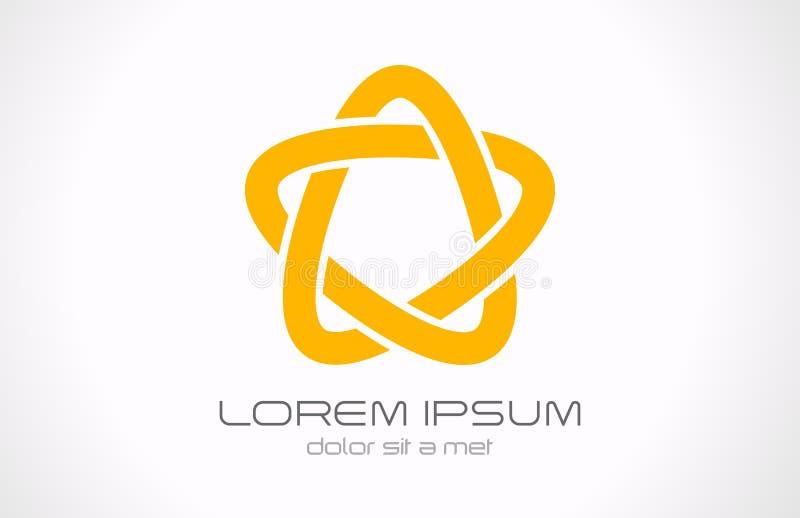 Logo d'abrégé sur boucle infinie d'étoile illustration stock