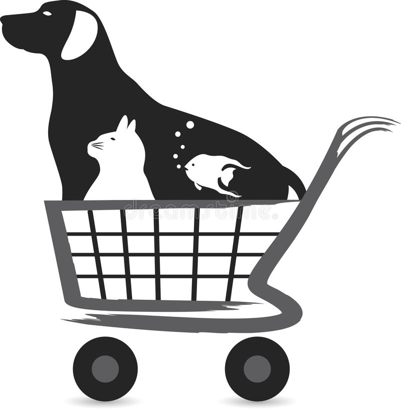 Logo d'achat d'animal familier illustration libre de droits