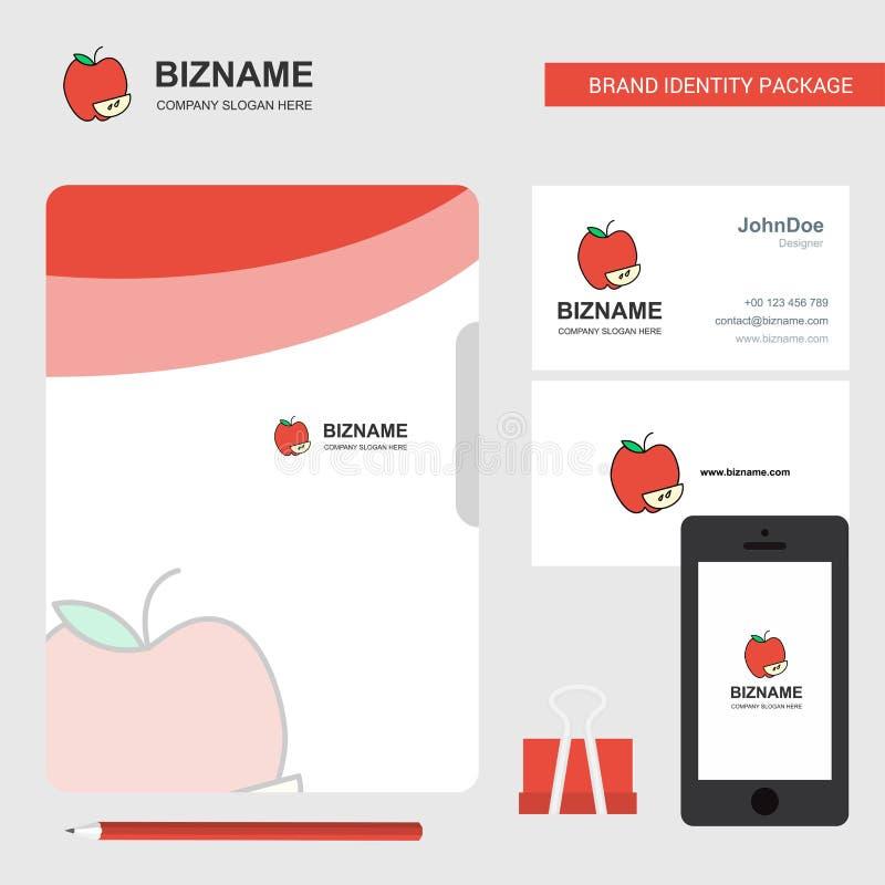 Logo d'affaires d'Apple, carte de visite de couverture de dossier et conception mobile d'appli Illustration de vecteur illustration de vecteur
