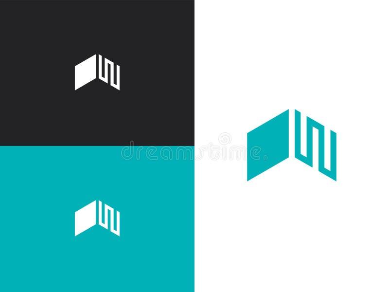 Logo d'affaires avec le concept des toits illustration libre de droits
