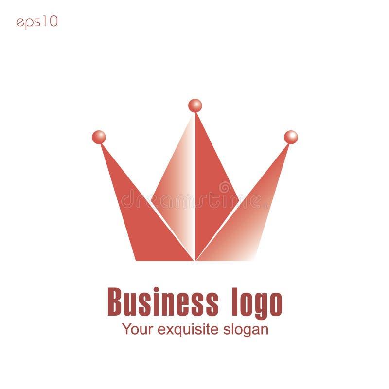 Logo d'affaires de couronne illustration de vecteur