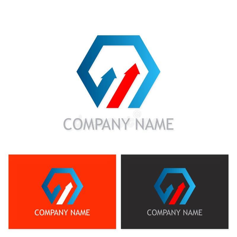 Logo d'affaires de flèche de polygone illustration libre de droits