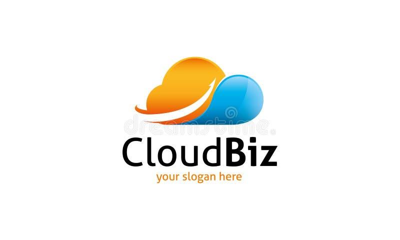 Logo d'affaires de nuage illustration libre de droits
