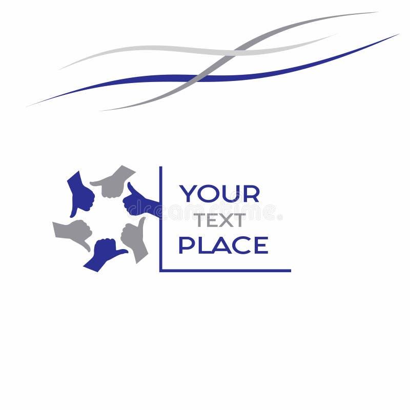 Logo d'affaires, invitation de travail d'équipe photographie stock libre de droits