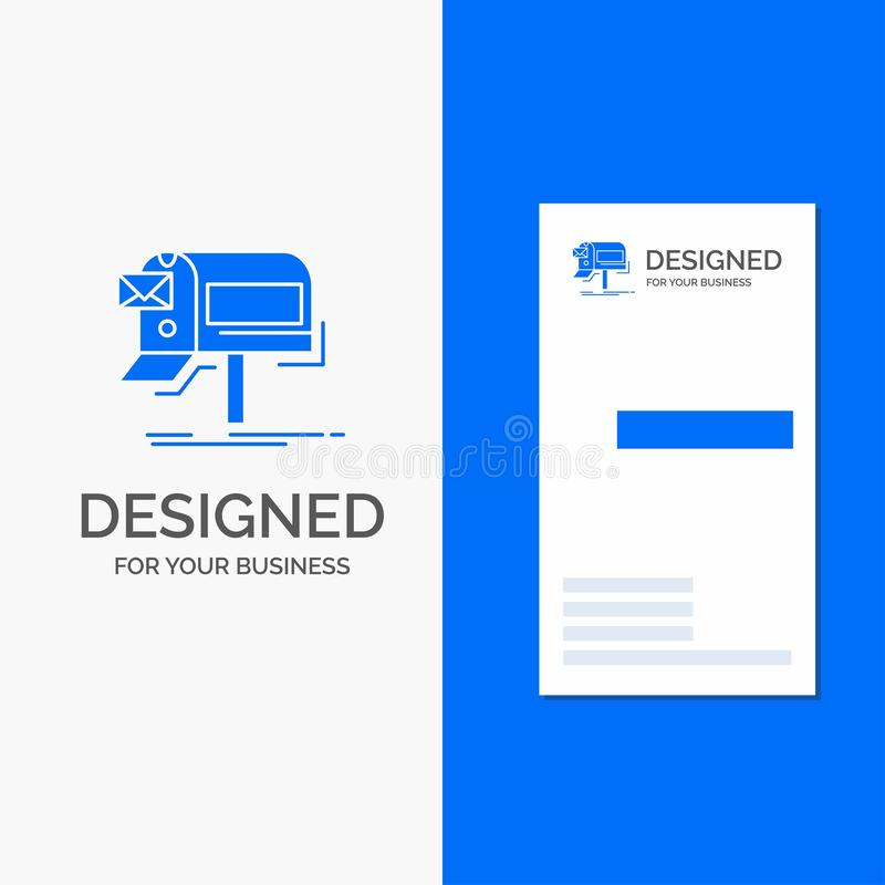 Logo d'affaires pour des campagnes, email, vente, bulletin d'information, courrier Calibre bleu vertical de carte d'affaires/de v illustration de vecteur