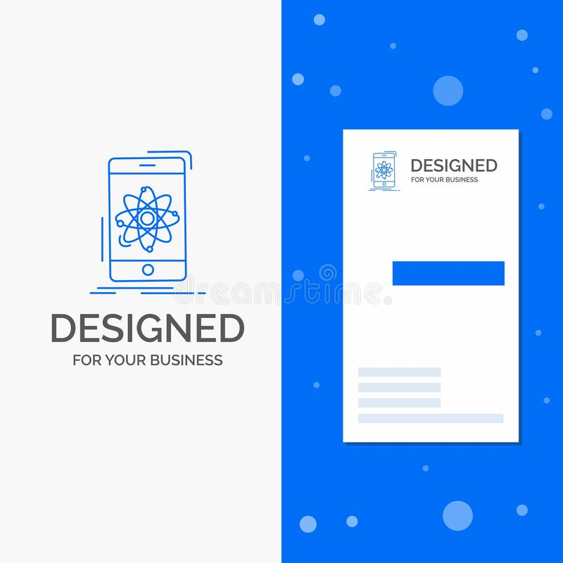 Logo d'affaires pour des donn?es, l'information, mobile, recherche, la science Calibre bleu vertical de carte d'affaires/de visit illustration stock