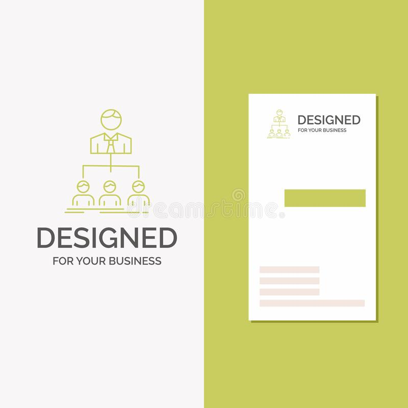 Logo d'affaires pour l'équipe, travail d'équipe, organisation, groupe, société Calibre vert vertical de carte d'affaires/de visit illustration libre de droits