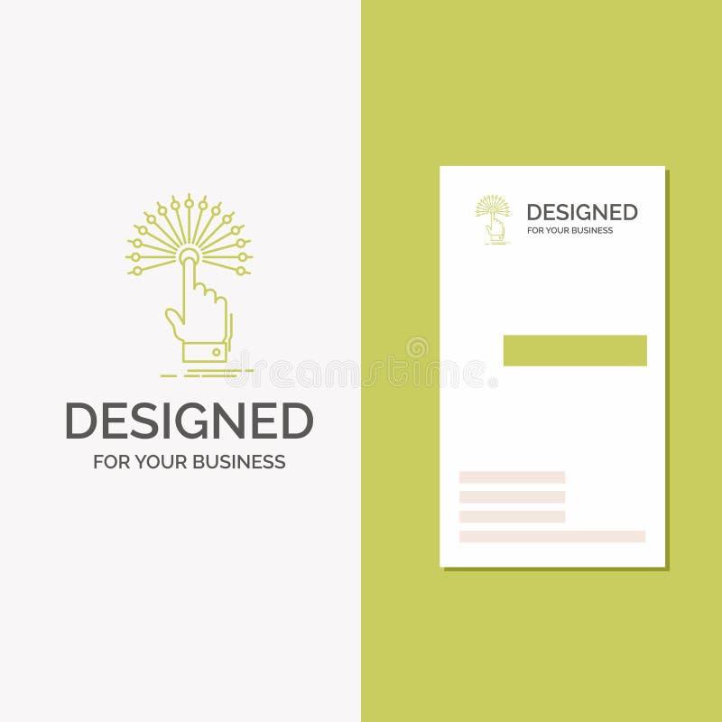 Logo d'affaires pour la portée, contact, destination, numérique, analytique Calibre vert vertical de carte d'affaires/de visite c illustration libre de droits