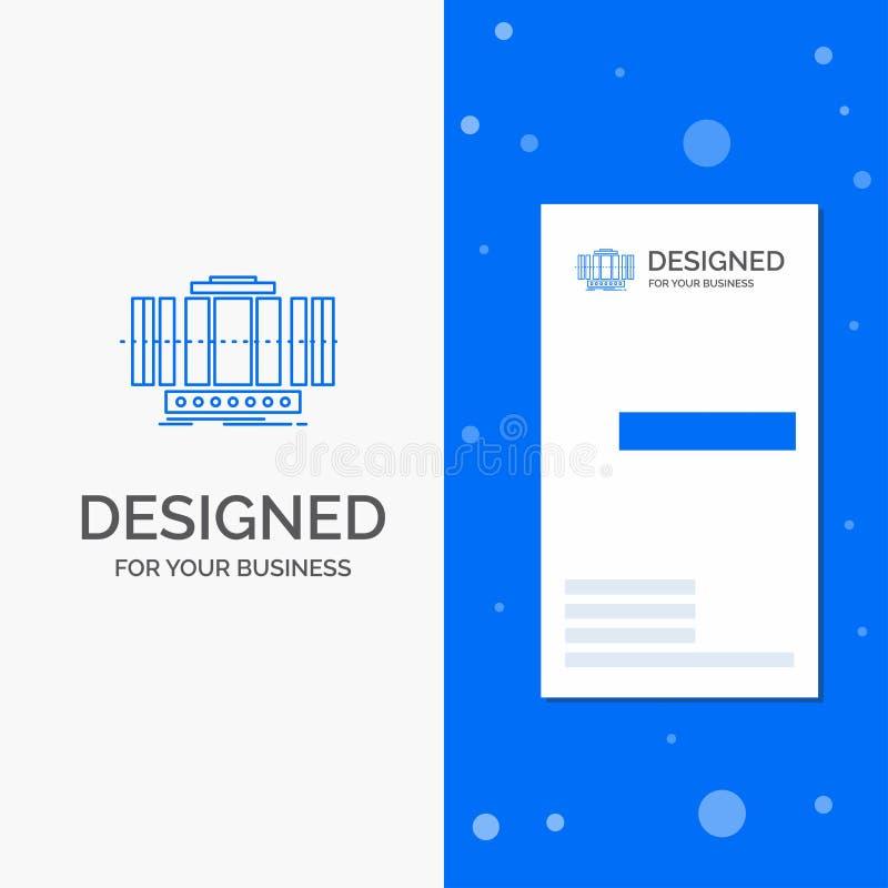 Logo d'affaires pour la turbine, verticale, axe, vent, technologie Calibre bleu vertical de carte d'affaires/de visite illustration libre de droits