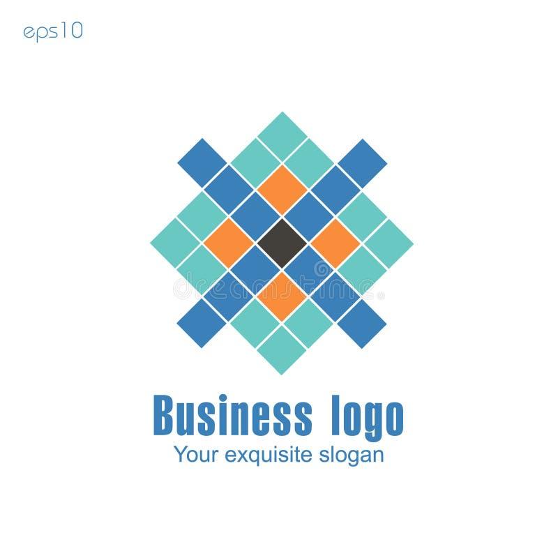 Logo d'affaires sur le fond blanc pour la conception illustration de vecteur