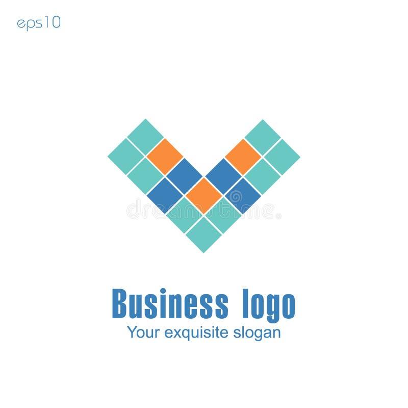 Logo d'affaires sur le fond blanc pour la conception illustration stock