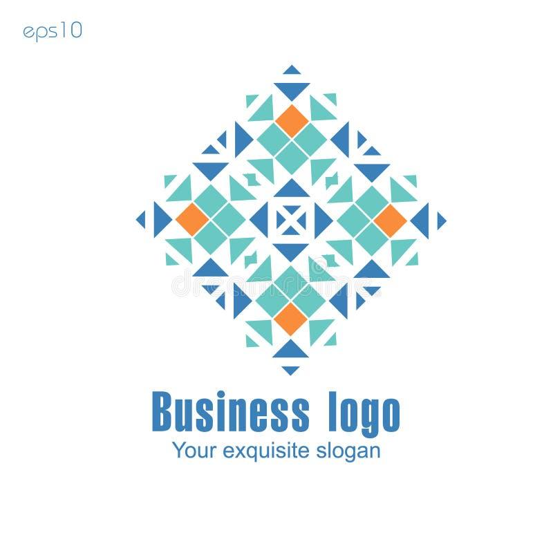 Logo d'affaires sur le fond blanc pour la conception illustration libre de droits