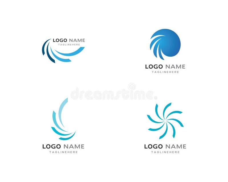 Logo d'affaires, vortex, vague et icône de spirale illustration libre de droits