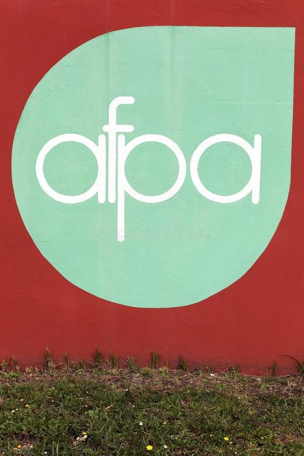 Logo d'AFPA sur un mur images stock