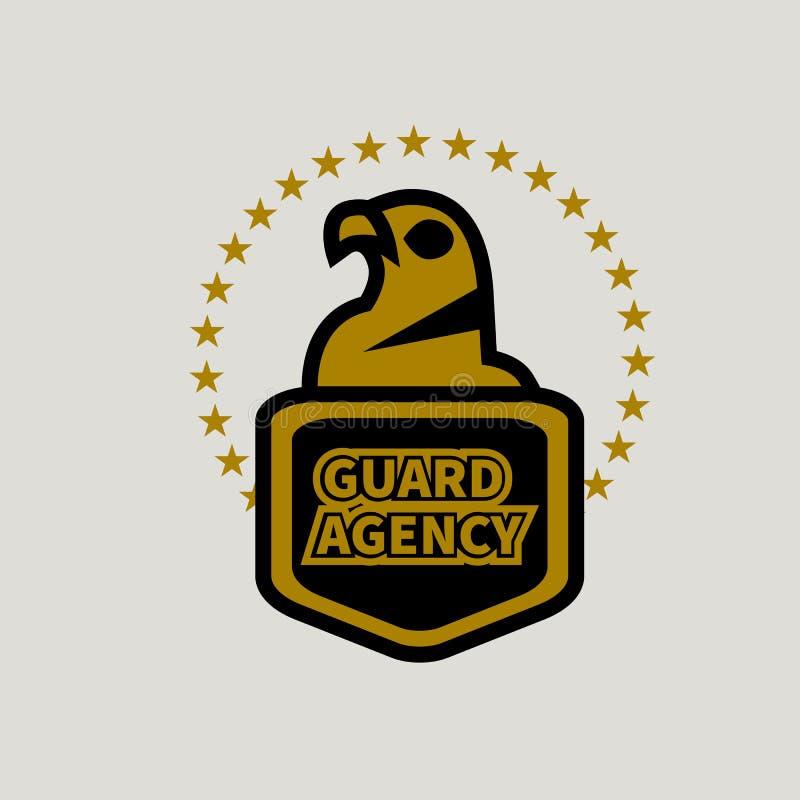Logo d'agence de sécurité illustration stock