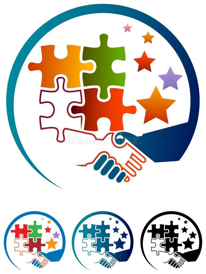 Logo d'aide illustration stock