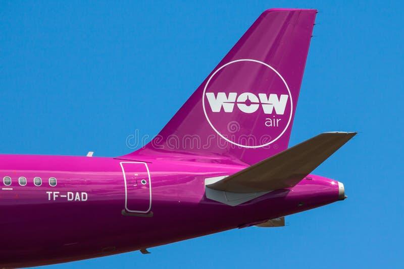 Logo d'air de wow photo stock